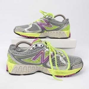 New Balance 860V3 Trainers Silver Mesh Yellow